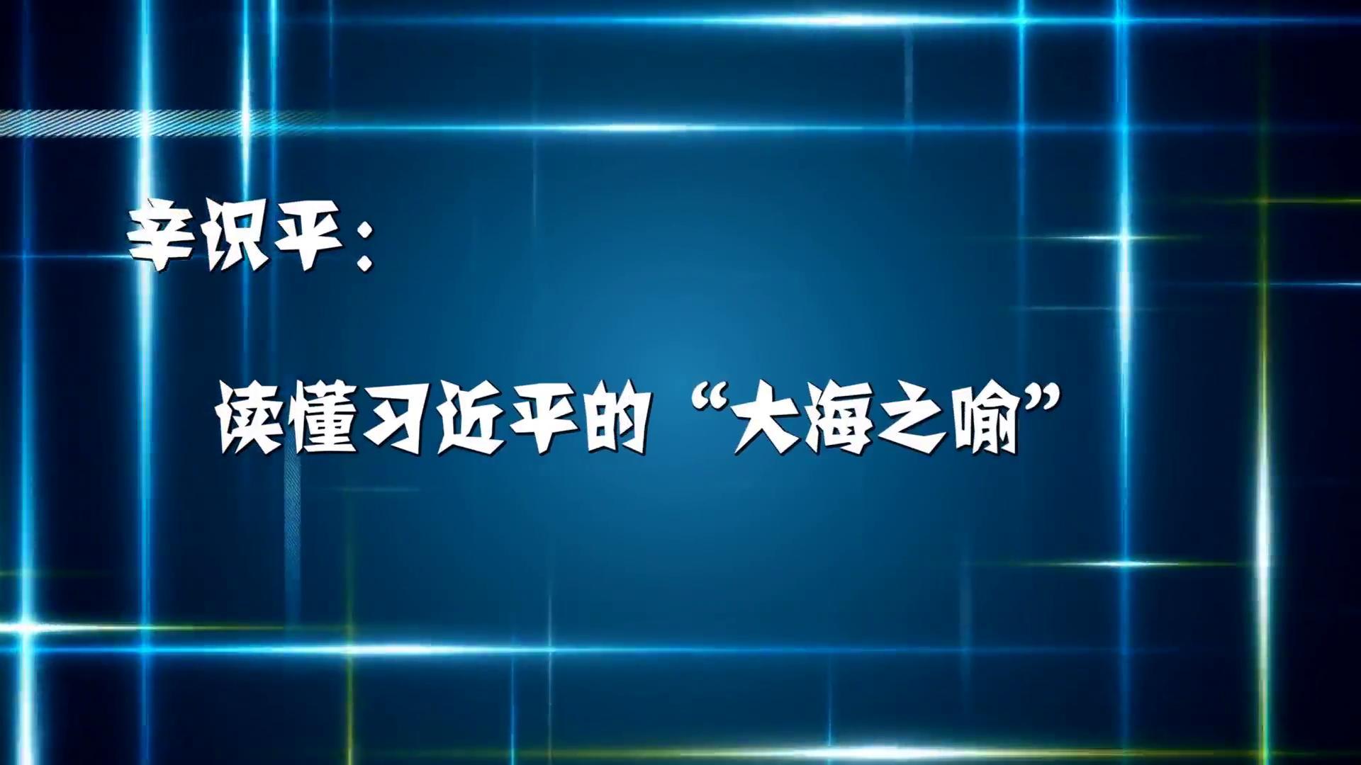 """辛识平:读懂习近平的""""大海之喻"""""""