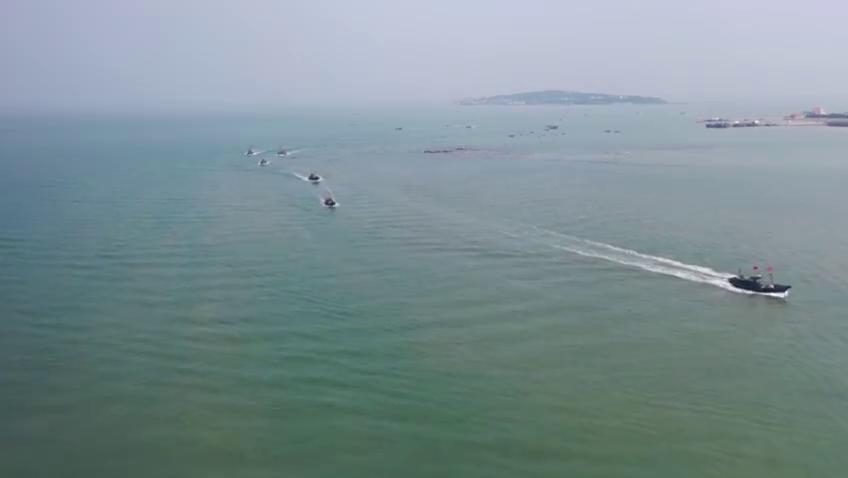 山东青岛即墨区:开海归来鱼满仓 渔民喜悦忙丰收